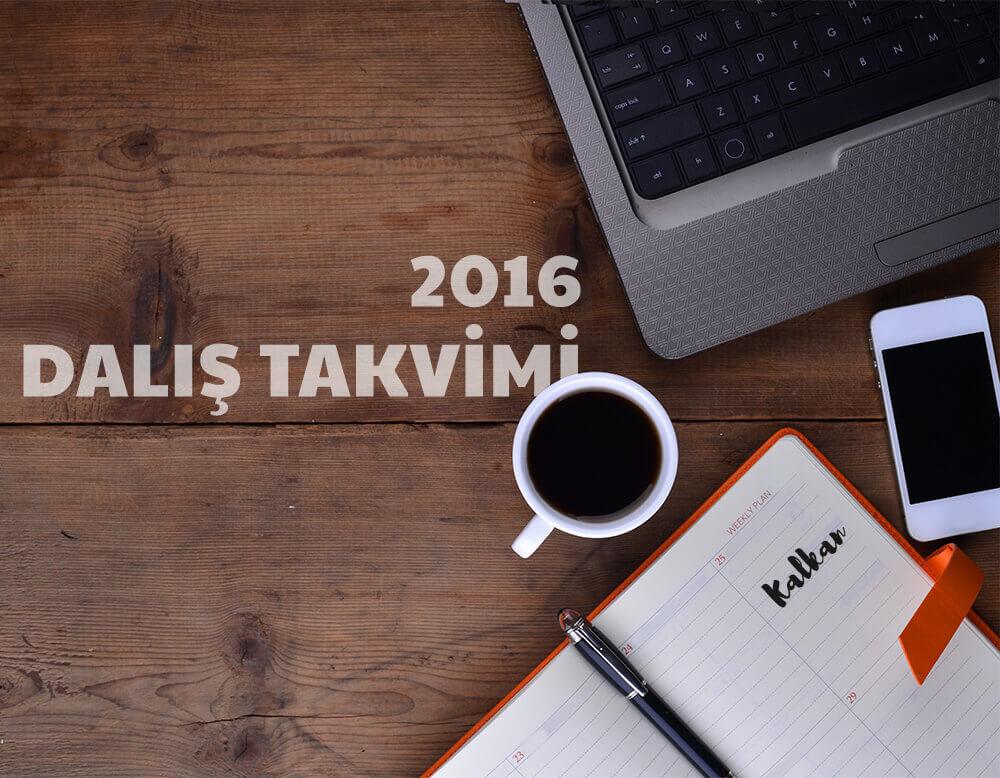2016 Dalis Takvimi