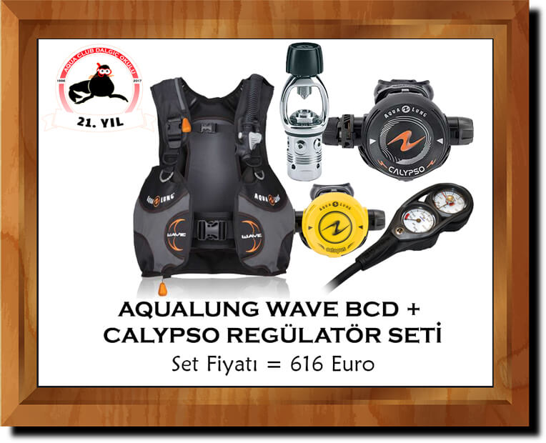 Aqualung Wave BC ve Calypso Regülatör Set