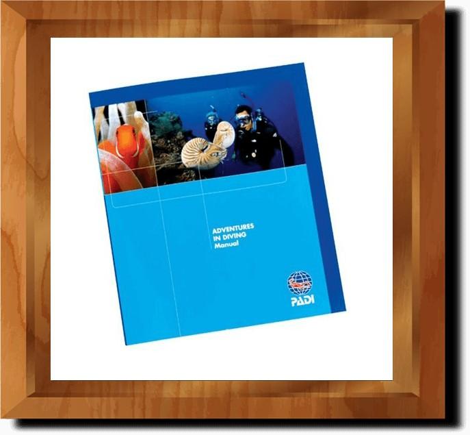 PADI Adventures in Diving Manual and Data Carrier (Turkish and English)